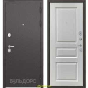 Дверь Бульдорс Standart 90 Ларче белый 9SD-2