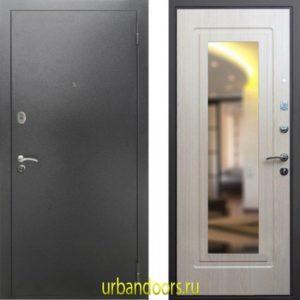 Дверь ReX 2A Зеркало Беленый Дуб