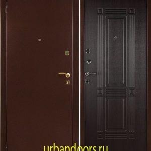 Заводские двери Триумф в цвете венге