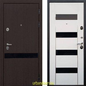 Дверь ReX Премьер Z-2 Вайт (черное стекло)