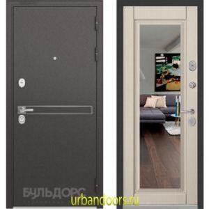 Дверь Бульдорс Standart 90 D-4 Ларче бьянко 9S-111 зеркало