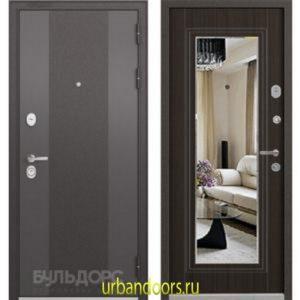 Дверь Бульдорс Standart 90 9К-4 Ларче шоколад зеркало 9S-140