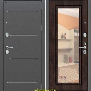 Дверь Грофф P2-206 в цвете темная вишня с зеркалом