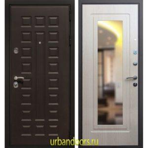 Дверь ReX Премиум 3 Зеркало Беленый Дуб
