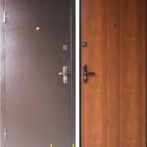 Заводские двери Эконом STEEL в цвете итальянский орех