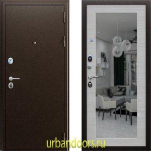 Дверь АСД Спартак с зеркалом в цвете акация светлая