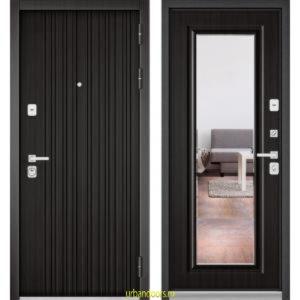 Дверь Бульдорс Premium 90 РР Ларче темный / Ларче темный-зеркало 9S-140