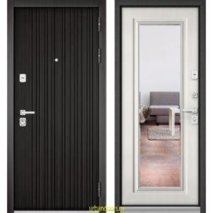 Дверь Бульдорс Premium 90 РР Ларче темный / Шамбори светлый-зеркало 9S-140