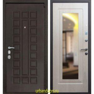 Дверь ReX 4A Зеркало Беленый Дуб