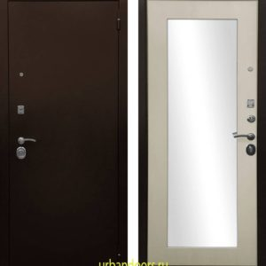 Дверь Ратибор Оптима 3К Зеркало Лиственница беж