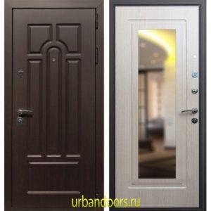 Дверь ReX Эврика Зеркало Беленый Дуб