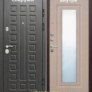 Дверь Йошкар-Ола Беленый Дуб Зеркало