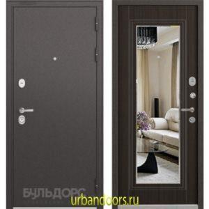 Дверь Бульдорс Standart 90 Ларче шоколад зеркало