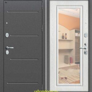 Дверь Грофф P2-206 в цвете беленый дуб с зеркалом