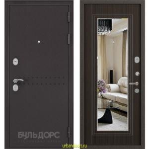 Дверь Бульдорс MASS 90 Ларче шоколад Зеркало