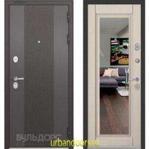 Дверь Бульдорс Standart 90 9К-4 Ларче бьянко зеркало 9S-140