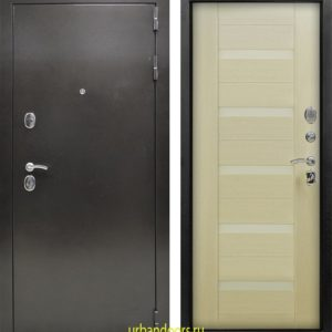 Дверь Йошкар-Ола Люкс 3-К беленый дуб со стеклом