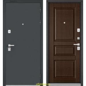 Дверь Бульдорс Premium 90 Черный шелк / Дуб коньяк 9РD-2