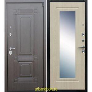 Дверь ReX 9 Зеркало Беленый Дуб